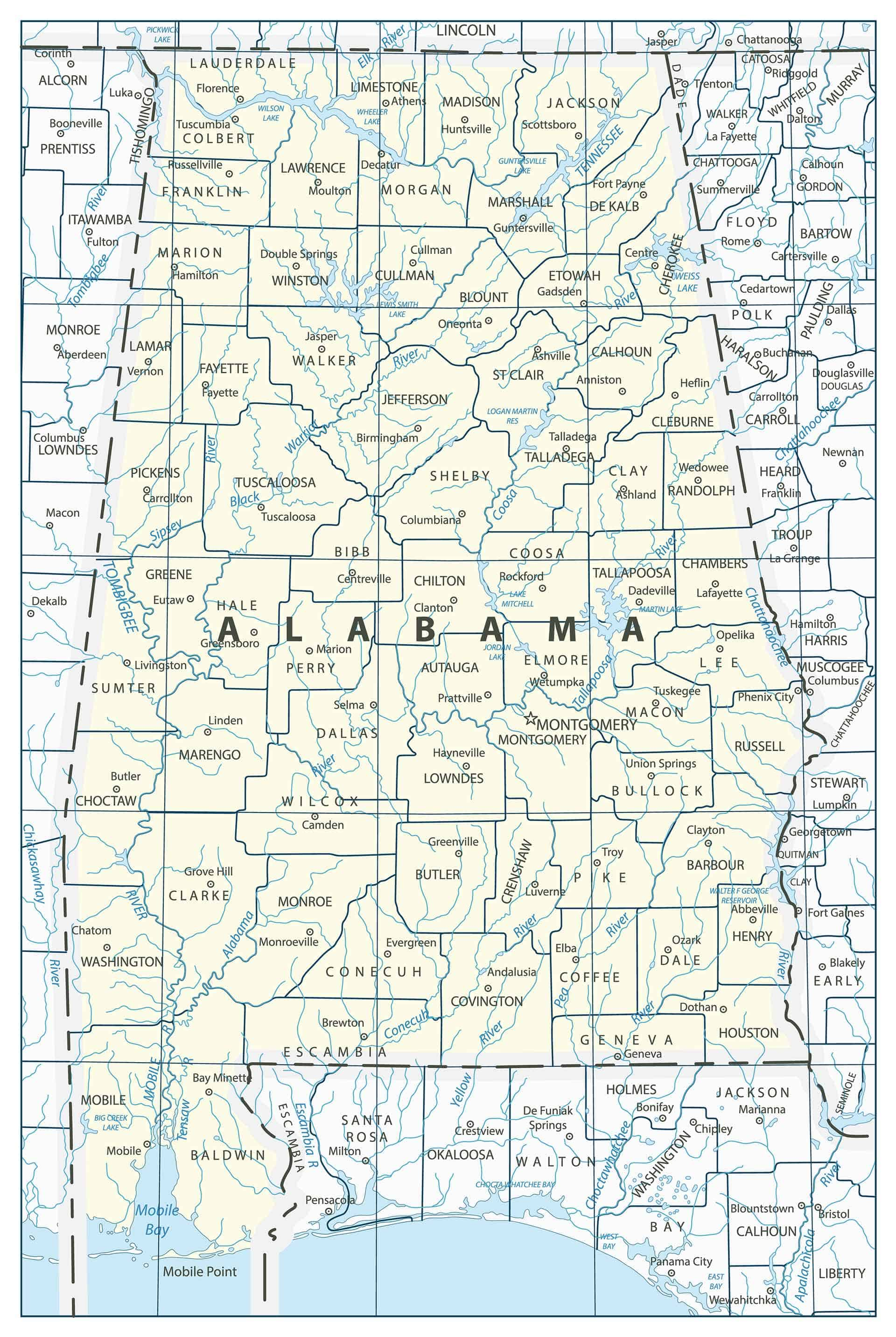 History and Facts of Alabama Counties - My Counties